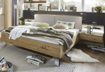 Stylform BONN Bianco Semi Solid Oak Modern Bed