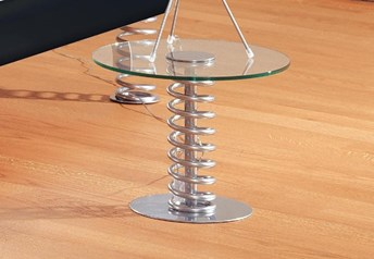 Hasena Twist Glass & Metal Bedside Table