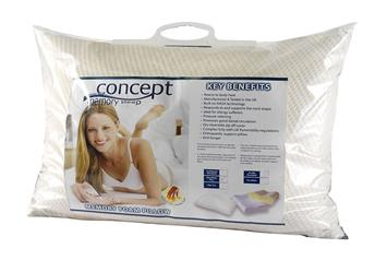 Concept moulded Memory Foam pillows - traditional shape