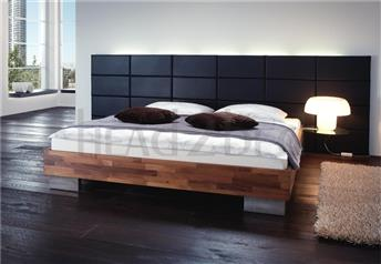 Hasena Atecca Opio 3L - Solid Walnut & Real Leather Bed