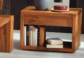 Hasena Cubo - Bedside Table Solid Oak