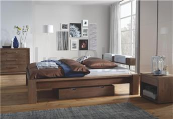 Hasena Cobo Cortina Balco - Solid Oak Bed