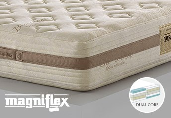 Magniflex Toscana Cotton Caresse Dual 10 Memory Foam 25cm Deep MattressDual Side Support - Medium-Soft/Medium-Firm Support