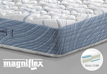 Magniflex Magnigel Dual 10 Memory Foam 25cm Deep MattressDual Side Support - Medium-Soft/Medium-Firm Support