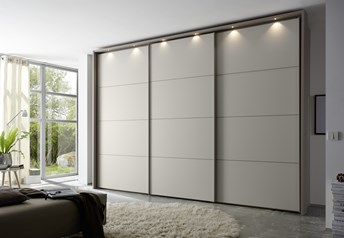 Domus Melody Three - 113-400cm Sliding Door Wardrobewith optional mirrored doors