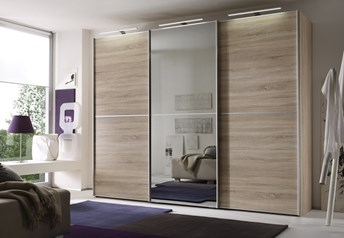 Domus Melody Four - 113-400cm Sliding Door Wardrobewith optional mirrored doors
