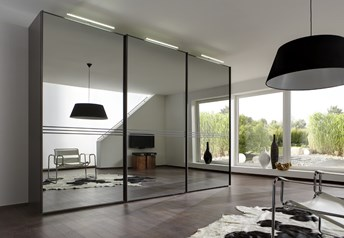 Domus Melody Five - 113-400cm Sliding Door Wardrobewith optional mirrored doors