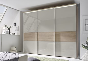 Domus Melody Six - 113-400cm Sliding Door Wardrobewith optional mirrored doors