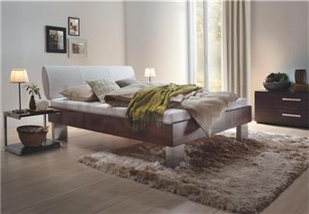Hasena Quada Elipsa - Solid Beech Real Leather Bed
