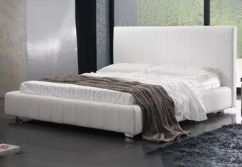 Quarrata CAPRI Italian Modern Genuine leather Bed with high-rise headboard