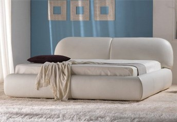 Quarrata SORRENTO Modern Italian Real Leather Bed