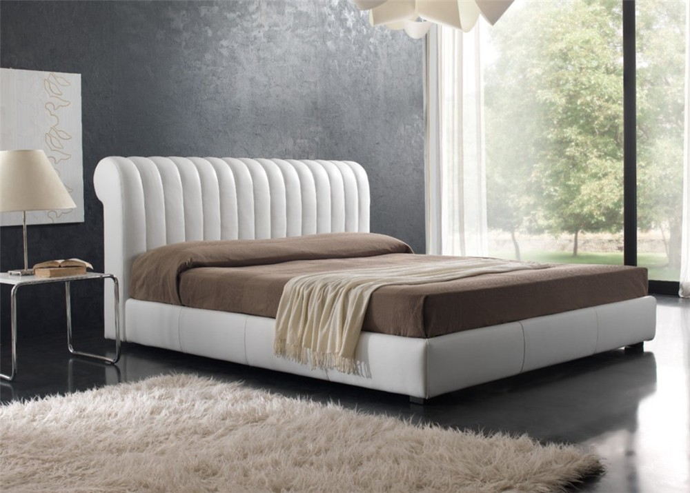 quarrata milano contemporary italian leather bed - Leather Bed