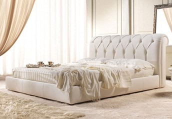 Quarrata FLORENCE Italian Genuine Leather Bed