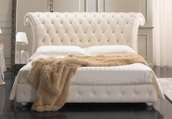 Quarrata VENICE Italian Genuine Leather Bed