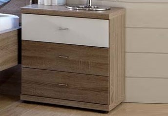 Stylform Artemis - 3 Drawer Bedside Table