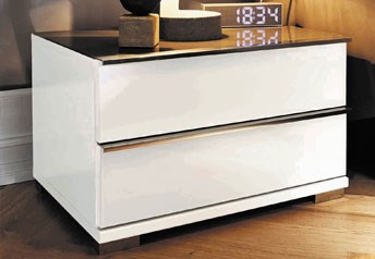 Stylform VIP - 2 Drawer Bedside Table