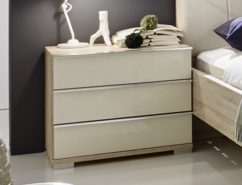 Bedroom Furniture Accessories Stylform Vip 3 Drawer Bedside Table Head2bed Uk