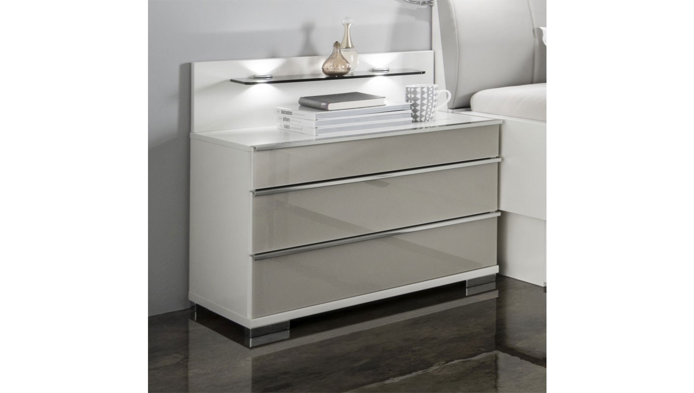 phoenix 3 drawer bedside table woodglass