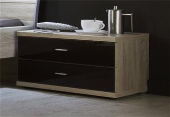 Stylform Artemis 2 Drawer Bedside Table Glass Fronts