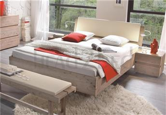 Hasena Superb Vilo Varus Ravo - Solid Acacia Real Leather Bed
