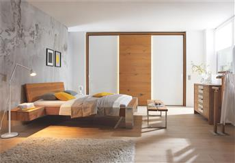 Hasena Cobo Bormio Sion - Solid Oak Modern Bed