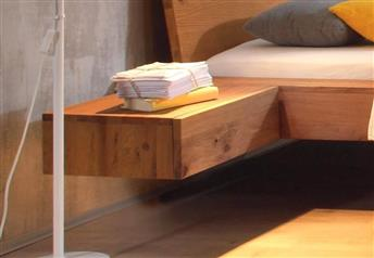 Hasena Caja - 1 Drawer Suspended Bedside Table Solid Oak