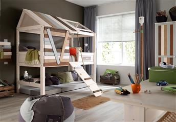 Lifetime Kidsrooms - Children's Tree-House Bed Solid Wood - High version