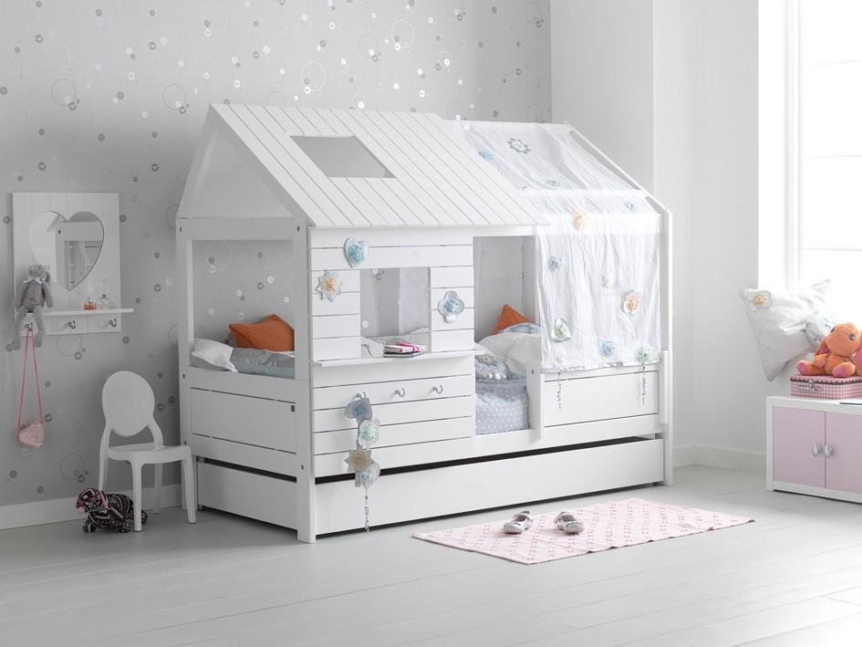 lifetime silversparkle children 39 s hut bed with guest bed storage head2bed uk. Black Bedroom Furniture Sets. Home Design Ideas