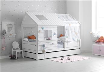 Lifetime Kidsrooms - Silversparkle Children's Hut-Bed Low with Guest bed/Storage Option