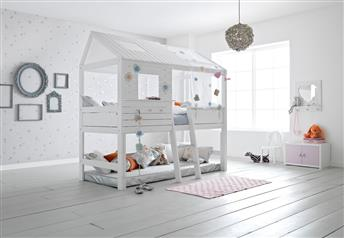 Lifetime Silversparkle Children's Hut-Bed Solid Wood - High version