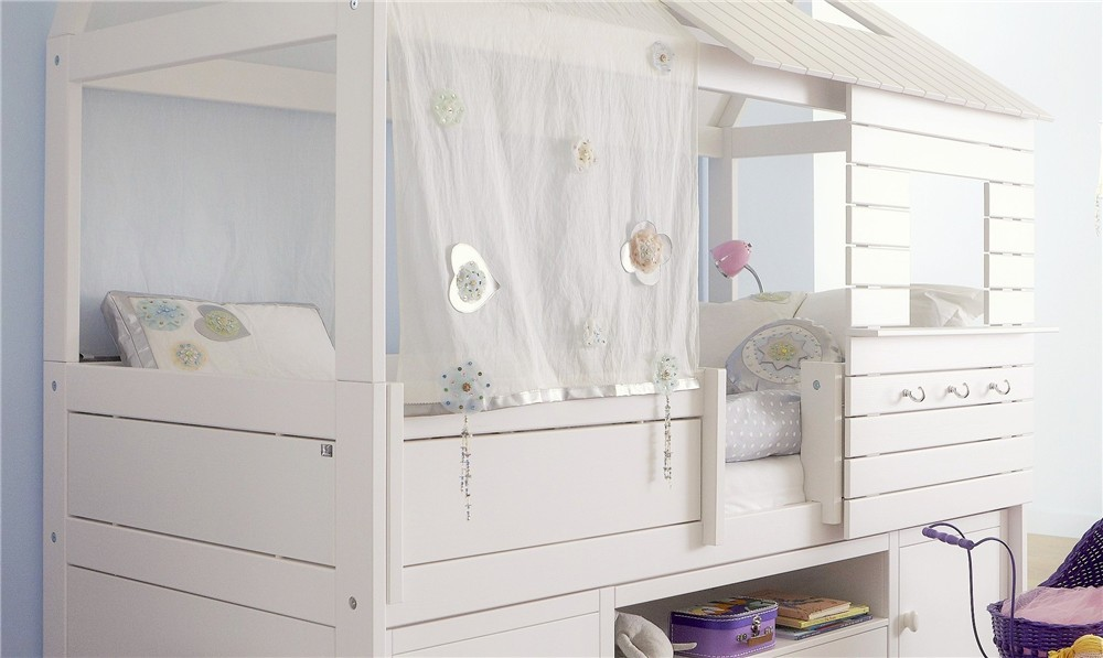 Lifetime Bed Silver Sparkle.Lifetime Silversparkle Hut Bed Solid Wood Cabin Bed With Storage Or Extra Beds