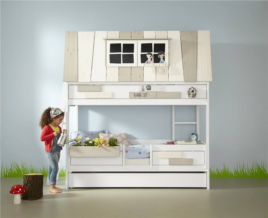 Lifetime Bed Silver Sparkle.Lifetime My Hang Out Hut Bed In Solid Wood Brilliant White Storage Guest Bed Option