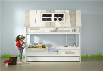 Lifetime Kidsrooms - My Hang-Out Hut-Bed in Solid Wood BRILLIANT WHITE -Storage/Guest Bed Option