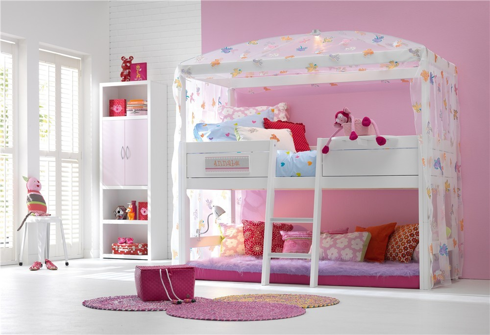 Lifetime Children S Four Poster Mid High Sleeper Bed