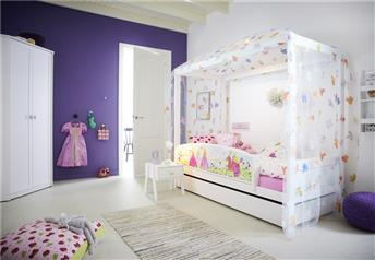 Lifetime Kidsrooms - Freebird - Children's Four-Poster Bed with Guest Bed/Storage Option
