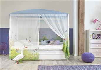Lifetime Butterflies - Children's Four-Poster Bed-Guest Bed/Storage Option