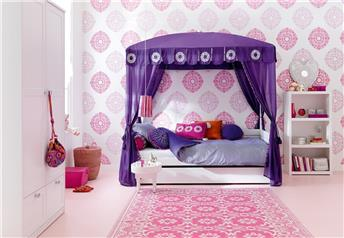 Lifetime Kidsrooms - Morocco Chic Children's Four-Poster Bed with Guest Bed/Storage Option