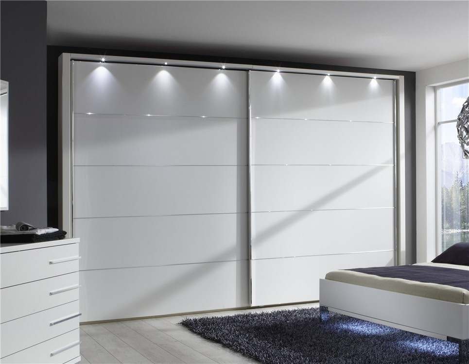 Modern bedroom wardrobe designs - Stylform Eos Sliding Door Wardrobe Matt White Head2bed Uk
