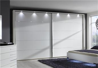 EOS by Stylform - Sliding Door Wardrobe Matt White