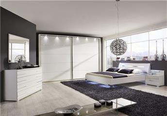 Stylform eos sliding door wardrobe wood mirror head2bed uk - Arranging contemporary modern bedroom furniture ...