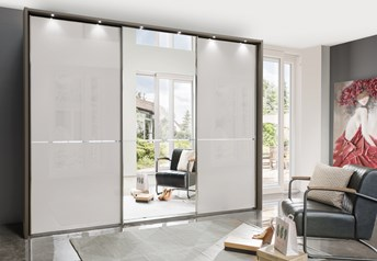Stylform NYX - 150-400cm Glass/Mirrored Sliding Wardrobe