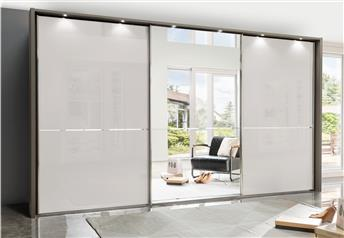 Stylform NYX - 250-400cm Glass/Mirrored Sliding Wardrobe