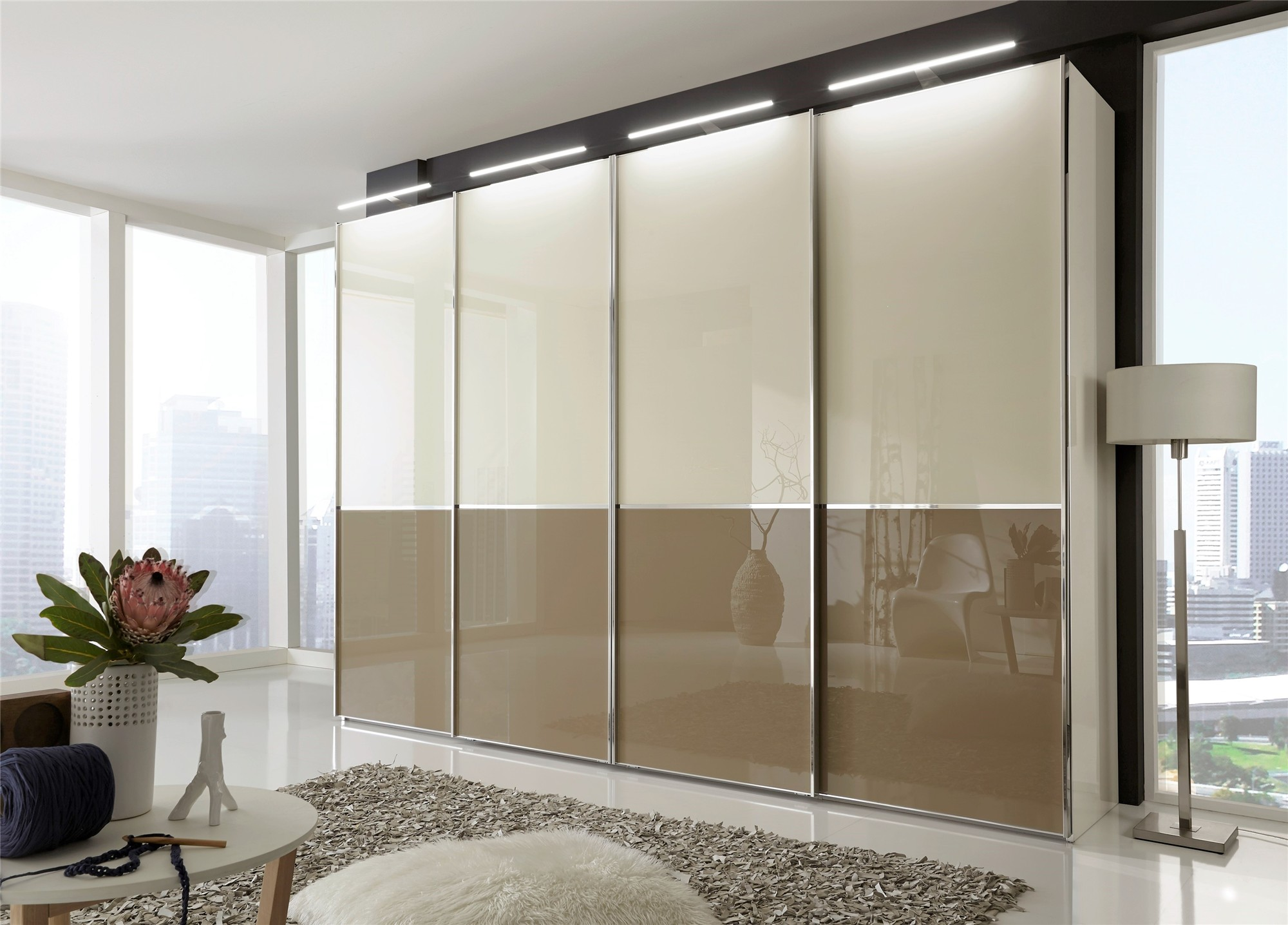 stylform nyx white black magnolia glass or mix with mirrors head2bed uk. Black Bedroom Furniture Sets. Home Design Ideas