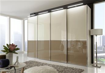 NYX by Stylform - White-Black-Magnolia Glass/Mirrored Wardrobe