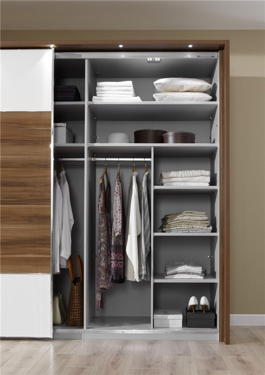 Stylform Nyx Hinged Door Wardrobe In Glass With Drawers