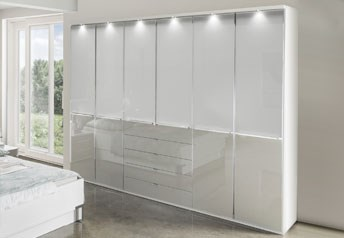 Stylform NYX - 150-300cm Wardrobewith glass doors and external drawers