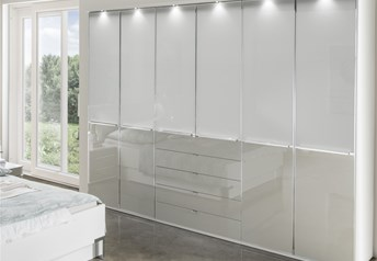 Stylform NYX - Glass Wardrobe with drawers