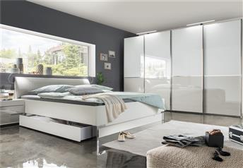 NYX Bedroom Set CHOICE OF GLASS FINISH - OR MIX WITH MIRRORS
