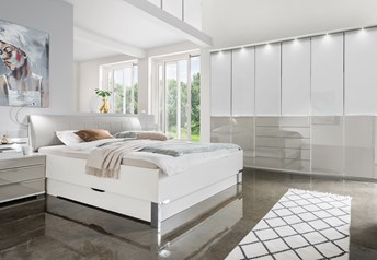 Stylform NYX - 150-300cm Wardrobe Bedroom Setglass or mirrored with optional storage for bed