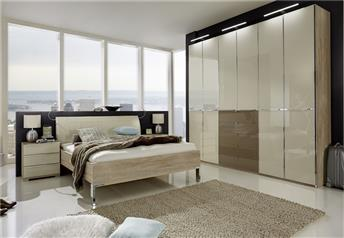 Stylform NYX bedroom set - choice of glass finish or mix with mirrors